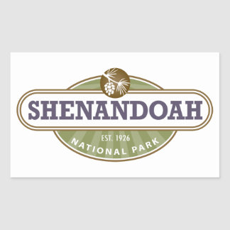 Shenandoahの国立公園 長方形シール