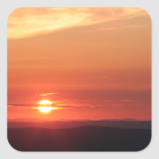 Shenandoahの山の日没 スクエアシール