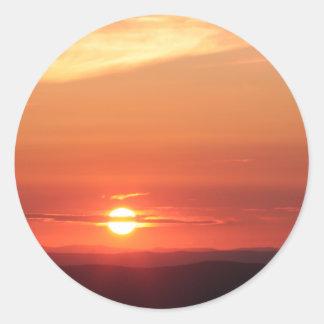 Shenandoahの山の日没 ラウンドシール