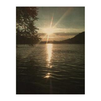 Shenandoahの日没 ウッドウォールアート