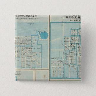 Shenandoah、ベドフォードの計画 5.1cm 正方形バッジ