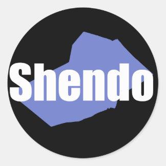Shendoのステッカー ラウンドシール