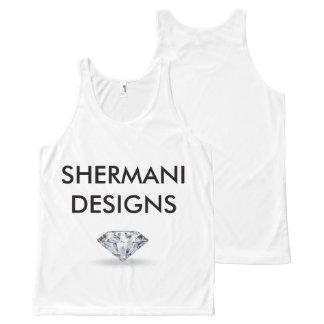 Shermaniのデザインダイヤモンド オールオーバープリントタンクトップ