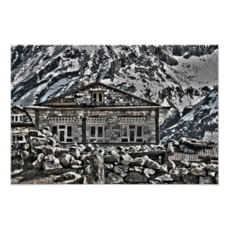 Sherpaのホテル-ネパールHimilayans移住及び旅行 ポスター