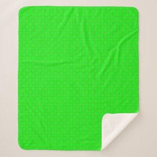 Sherpaスタイリッシュでクラシックで鮮やかな緑の毛布 シェルパブランケット
