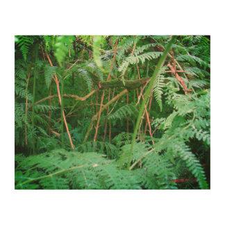 Sherwoodの木のパネルの森林シダ ウッドウォールアート