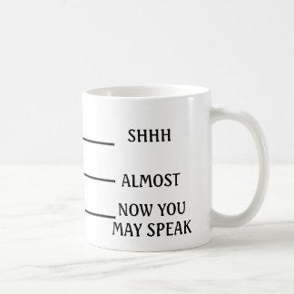 SHHほとんど今コーヒー・マグを話すことができます コーヒーマグカップ