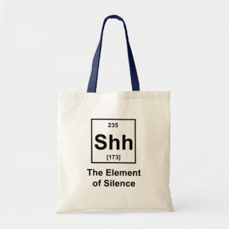 Shh、沈黙の要素 トートバッグ