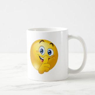 Shh emoji コーヒーマグカップ