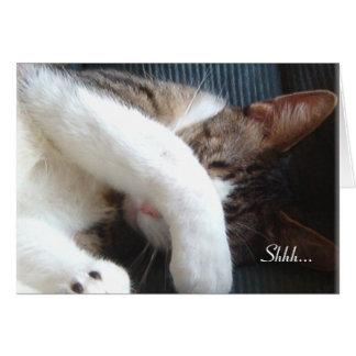Shhh… それはびっくりパーティ猫カードです カード