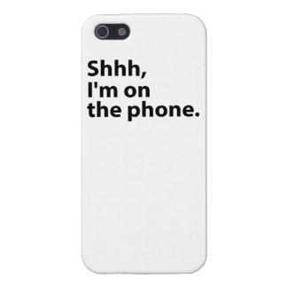 Shhh、私は電話にあります。 場合 iPhone SE/5/5sケース