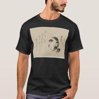 Shibata Zeshin著アライグマ犬(Tanuki) Tシャツ
