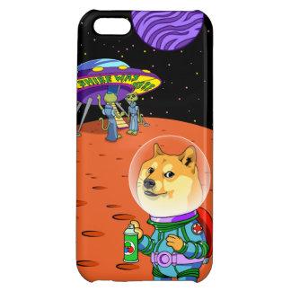 Shibeの総督Astroおよびエイリアンのミーム猫の漫画 iPhone5C カバー