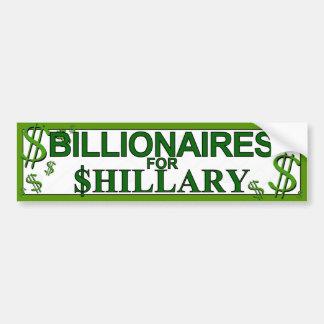 Shillaryのための億万長者 バンパーステッカー