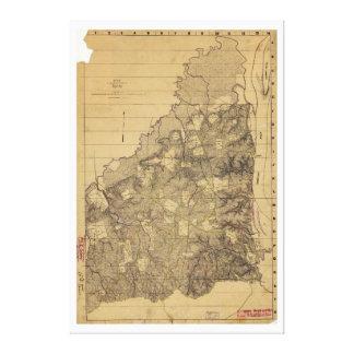 Shiloh 1862年4月6日及び7日の戦場の地図 キャンバスプリント