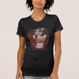 Shimmiaのキャバレーのベリーダンサーのティー Tシャツ