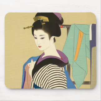 Shimura Tatsumi日本のな女性の2つの主題 マウスパッド