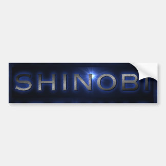 Shinobi青い日曜日はバンパーステッカーを破烈させました バンパーステッカー