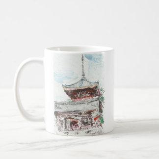 Shintennoujiの寺院の京都日本のコーヒー・マグ コーヒーマグカップ