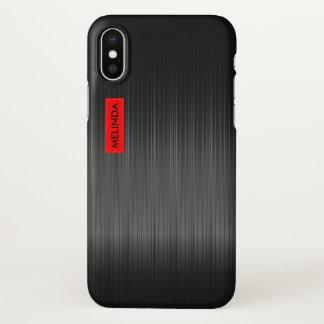 Shiny Black Carbon Fiber Texture iPhone X ケース