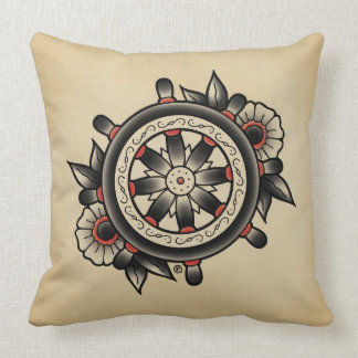 Shipwheelの入れ墨のフラッシュの装飾用クッション クッション