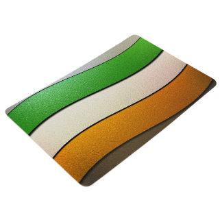 Shirleyテイラー著アイルランドの旗の色クロム フロアマット