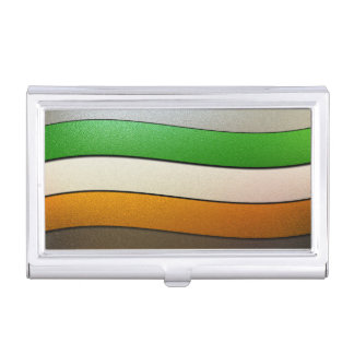 Shirleyテイラー著アイルランドの旗の色クロム 名刺入れ