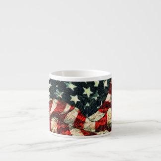 Shirleyテイラー著アメリカの旗カムフラージュ エスプレッソカップ