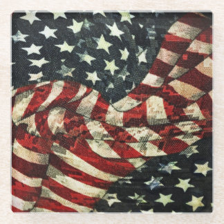 Shirleyテイラー著アメリカの旗カムフラージュ ガラスコースター