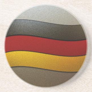 Shirleyテイラー著ドイツ旗の色クロム コースター