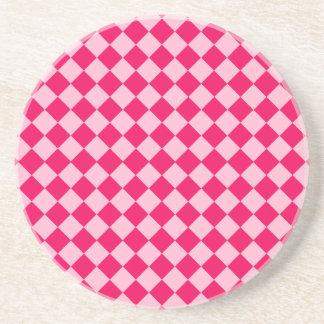Shirleyテイラー著ピンクの組合せのダイヤモンドパターン コースター