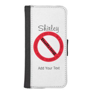 Shirleyテイラー著停止いじめロゴ iPhoneSE/5/5sウォレットケース