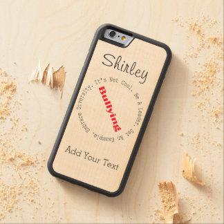 Shirleyテイラー著停止いじめ輪郭 CarvedメープルiPhone 6バンパーケース