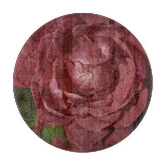 Shirleyテイラー著割れた赤いバラ カッティングボード
