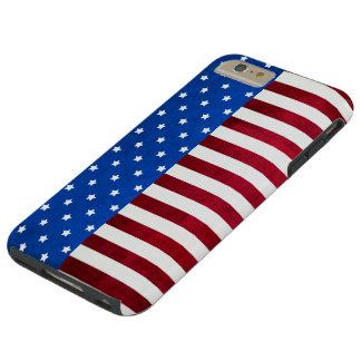 Shirleyテイラー著星そしてストライプアメリカの旗 Tough iPhone 6 Plus ケース