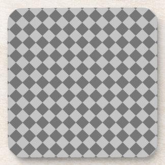 Shirleyテイラー著灰色の組合せのダイヤモンドパターン コースター