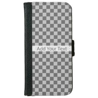 Shirleyテイラー著灰色の組合せのチェッカーボード iPhone 6/6s ウォレットケース