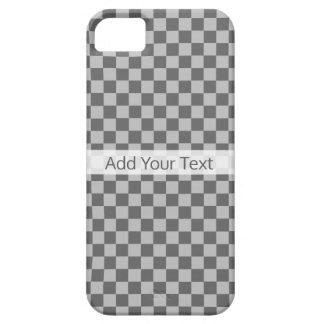 Shirleyテイラー著灰色の組合せのチェッカーボード iPhone SE/5/5s ケース