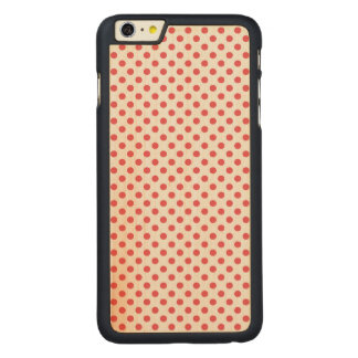 Shirleyテイラー著珊瑚のピンクの水玉模様 CarvedメープルiPhone 6 Plus スリムケース