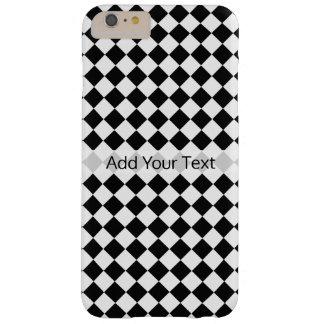 Shirleyテイラー著白黒ダイヤモンドパターン スキニー iPhone 6 Plus ケース