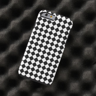 Shirleyテイラー著白黒ダイヤモンドパターン iPhone 6 タフケース