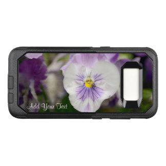 Shirleyテイラー著紫色および白いビオラ オッターボックスコミューターSamsung Galaxy S8 ケース