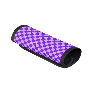 Shirleyテイラー著紫色の組合せのチェッカーボード ラゲッジ ハンドルラップ