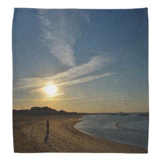 Shirleyテイラー著織り目加工の日没 バンダナ