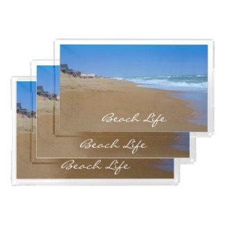 Shirleyテイラー著美しいビーチビーチの生命 アクリルトレー