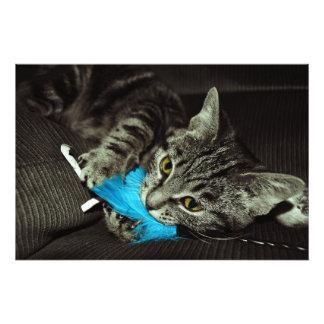 Shirleyテイラー著羽を持つ虎猫猫 フォトプリント