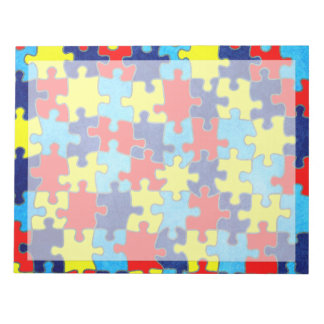 Shirleyテイラー著自閉症の認識度パズル ノートパッド