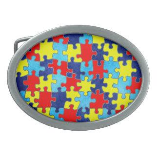 Shirleyテイラー著自閉症の認識度パズル 卵形バックル