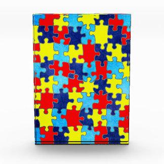 Shirleyテイラー著自閉症の認識度パズル 表彰盾