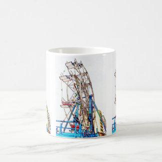 Shirleyテイラー著Ferrisの車輪チョークの輪郭 コーヒーマグカップ